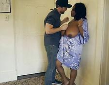 Ebony hot girl pussy fingering in stockings