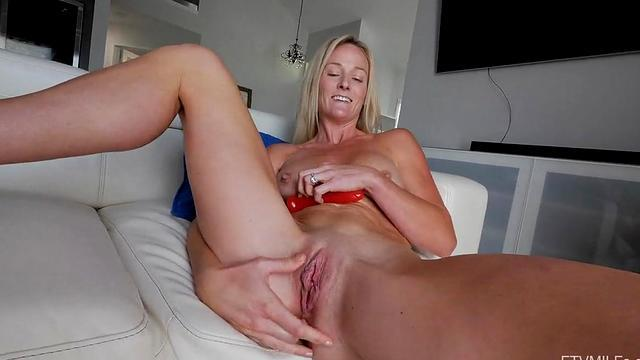 Fetish mature and her boy