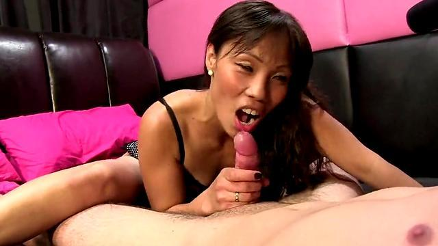 very hot asian girl ride a dick